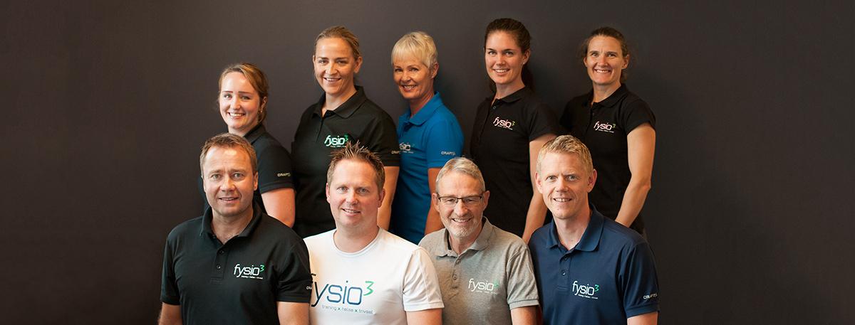 Fysio3 - gruppebilde av ansatte